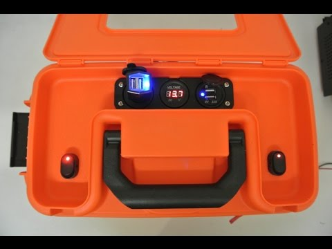 DIY Portable 12V Battery Box with Power Ports for Kayak - Version 2