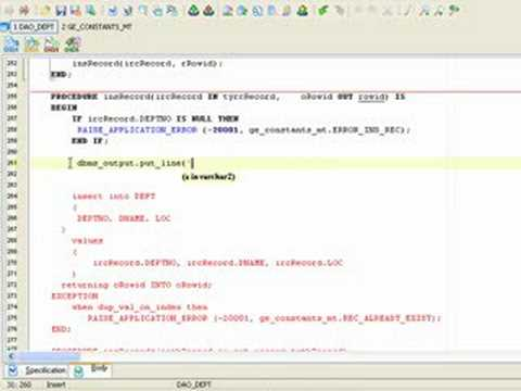 How to edit a package in Oracle database
