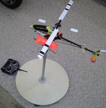 Pt 1, Build an Electric Heli Training/Test  Stand.