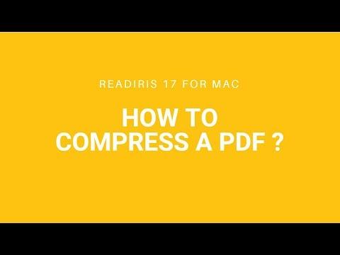 Readiris 17 Mac: Compress a PDF