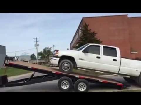 14,000 Lb 22' Deck Over trailer, 7 Ton Ram , 8000 Lb Winch
