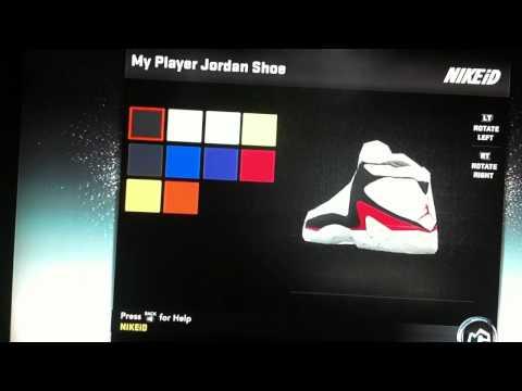 Nba 2k12 my player jordan shoe via Nikeid