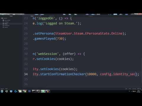 Steam Bot Tutorial - First Trades - Node.js
