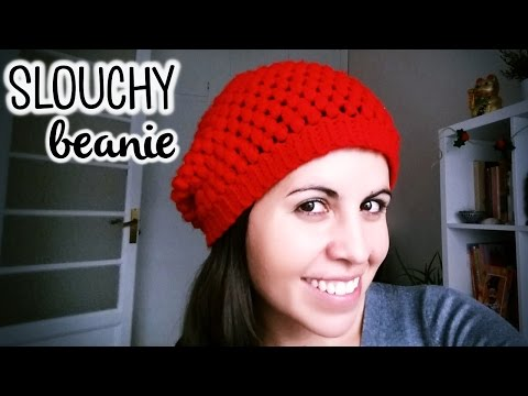 How to crochet SLOUCHY BEANIE (great for beginners) ♥ CROCHET LOVERS