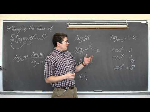 Change of Base Formula Logarithms