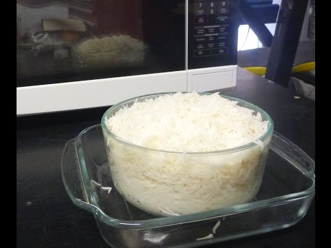 Cook rice in the Microwave Absorption method