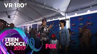 Ayo & Teo Get Hyped On The Blue Carpet   TEEN CHOICE