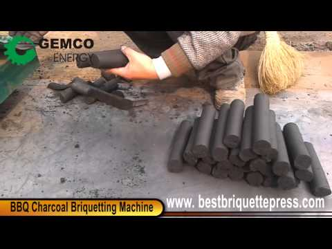 BBQ Charcoal Briquette Press Extruding BBQ Charcoal with different shape