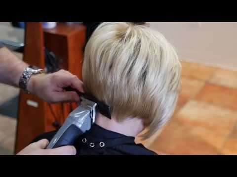How to Taper a Female Neckline - TheSalonGuy
