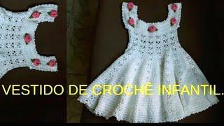 c0540d92ad31 Vestido de crochê pra menina de 2 a 3 anos - Sheila Croché - imclips.net