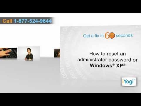 How to change Windows® XP Admin Password?
