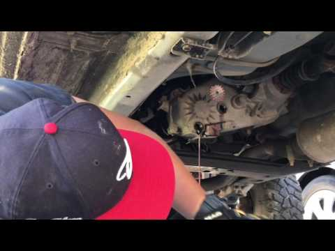 How to change transfer case fluid on a 2000 Jeep Cherokee Sport