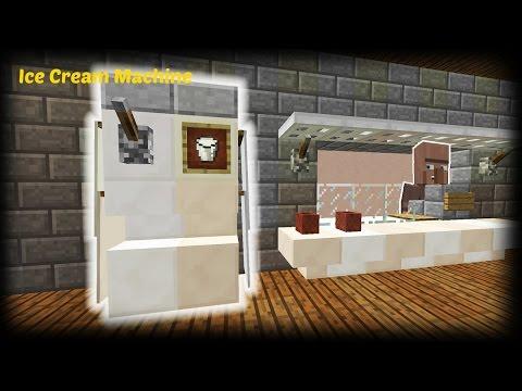 Minecraft - How to make a Working Ice cream machine