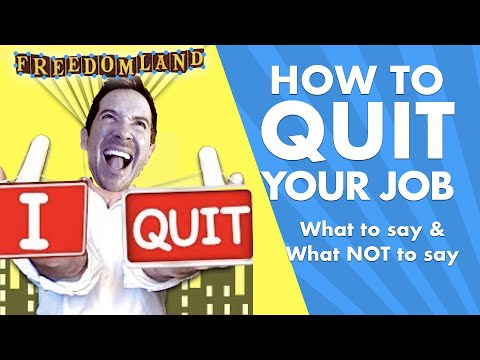 How to Quit Your Job | What to Say When You Quit Your Job | Communication Skills Training Videos