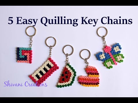 Quilling Key Chain/ How to make Quilling Key Ring