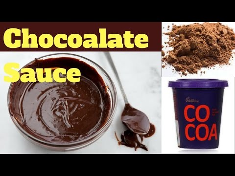 How to make Chocolate Sauce in Hindi / Recipe for Chocolate Sauce / Chocolate Dipping Sauce