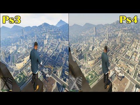 GTA 5 PS4 Vs PS3 Comparação Gráfica!!!