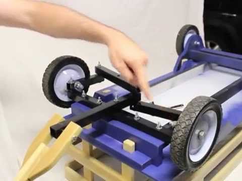 Build a homemade kids pull wagon: Radio-Flyer style with better steering!