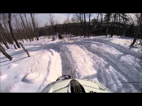 Snowmobiling the UP & Maine 2015