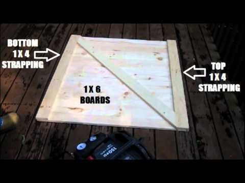 How To Build A Crawl Space Door