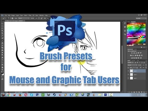 Photoshop CS6 Brush Presets for Mouse and Graphic Tablet Tutorial (Lineart)