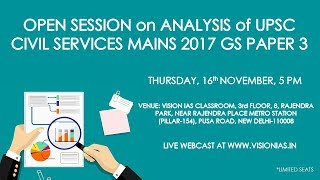 Analysis of UPSC Civil Services Mains 2017 GS Paper III