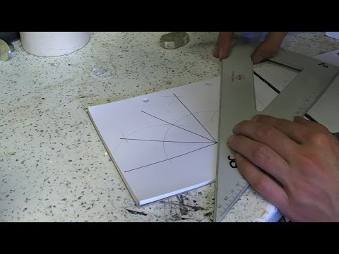 Finding 30, 60 and 90 Degrees Using A Compass - How To Draw / Bisect / Bisection