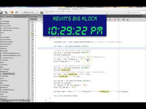 DigitalClock made in Java