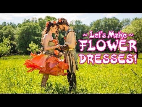 Lets start making a fairytale flower dress!