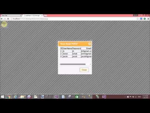 ASP.NET GridView show in JQuery Modal Popup part-2