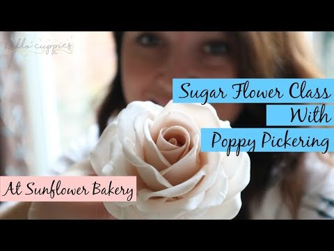 Sugar Flowers with Poppy Pickering |  Sunflower Bakery | A Day In Somerset