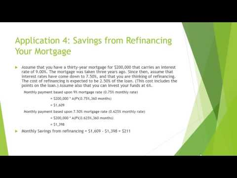 Present Value Tutorial: PV of MBA/Refinance Mortgage/Console Bond/Perpetuity/Dividend Stock