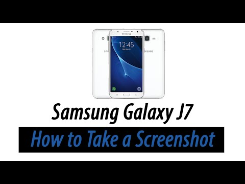 Samsung Galaxy J7 | How to Take a Screenshot