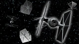 Star Wars - Tie Fighter Spaceship - Pyramid Hologram Video - Holographic Screen Down 3D [4K]