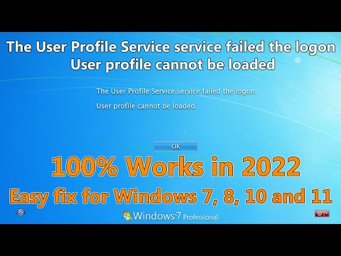 2018 The User Profile Service service failed the logon. User profile cannot be loaded