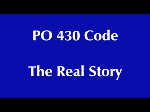 PO430 CODE  The real story...don't waste your money!!