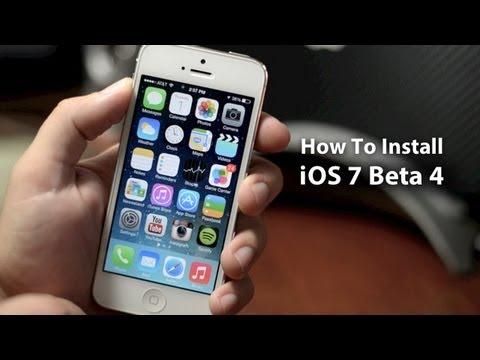 How To Install iOS 7 Beta 4