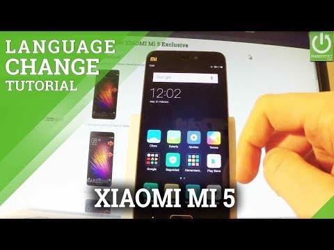 How to Change Language in XIAOMI Mi 5 - Language Settings