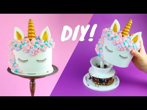HOW TO MAKE UNICORN CAKE JEWELRY BOX | Inspired by Rosanna Pansino and her AMAZING Unicorn cake