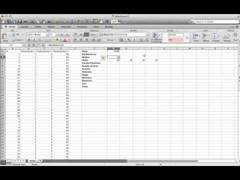 Descriptive statistics on a Mac