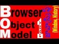 Browser Object Model (BOM) in javascript in telugu part 1    window object    history object
