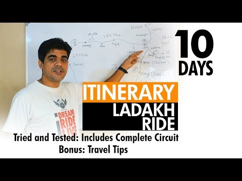 Itinerary For Ladakh Ride | 10 Days From Delhi | Travel Tips | Complete Circuit