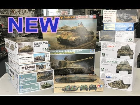 New tanks from Trumpeter, Hobbyboss, Tamiya, Takom, Panda with review of the Tigers