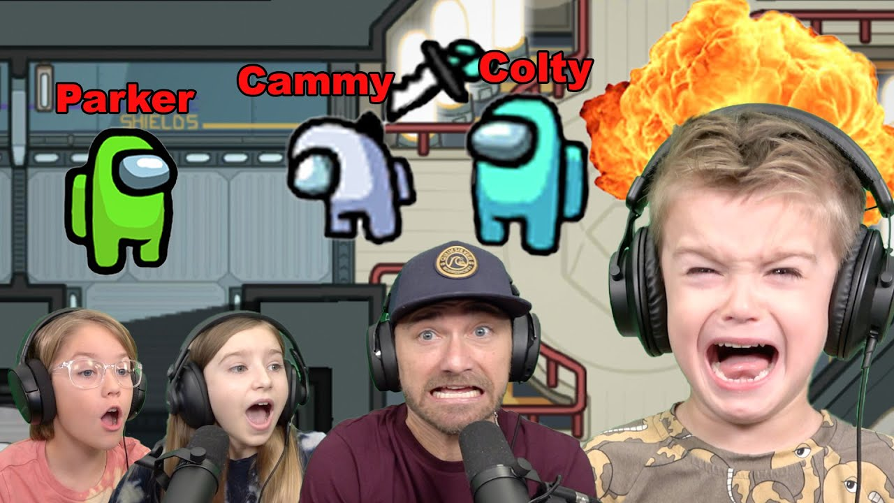 Colty Rage Quits Among Us When Parker Catches Him Kill Cammy!