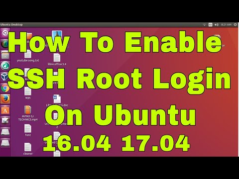 How to Enable ssh root login on  Ubuntu linux17.04,16.04,12.04 || Install open ssh server on Ubuntu.