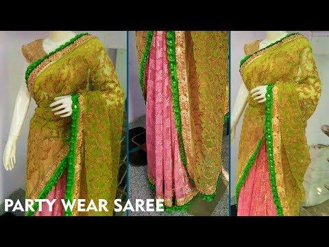 Designer Saree || Step by step Tutorial | How to Make Party Wear Saree || Party Wear Sarees ||