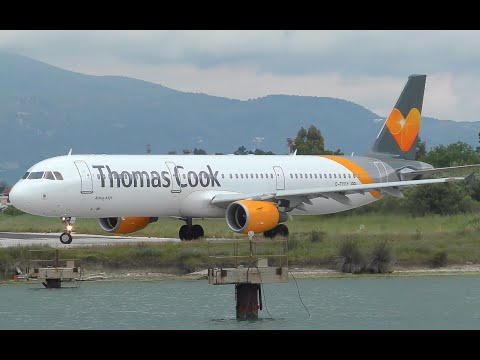 Thomas Cook Airbus A321 Takeoff from Corfu Airport