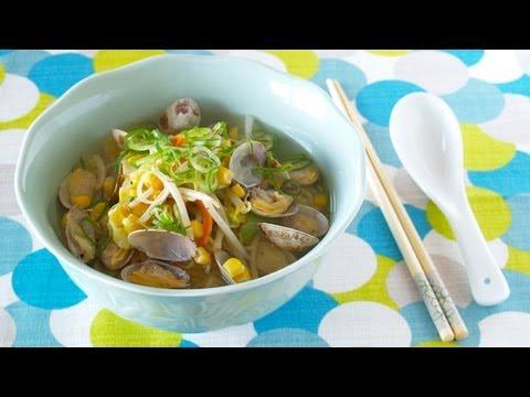 How to Make EASY Asari (Clam) Ramen Noodles (Recipe) 簡単!あっさりあさりラーメンの作り方 (レシピ)
