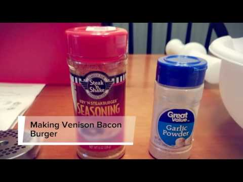 Venison Bacon Burger