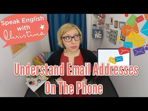 Understand Email Addresses on the Phone - Business English Lessons